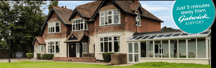 The maple manor hotel at gatwick with meet and greet parking airport hotel with a difference m4hsunfo