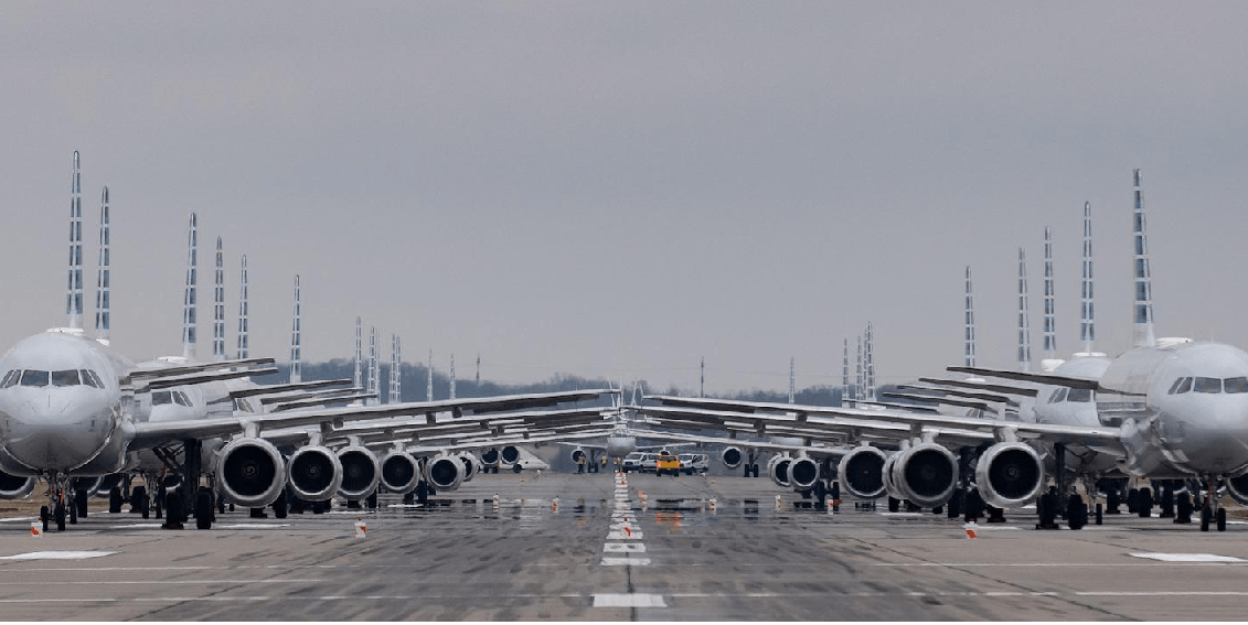 Planes grounded at the airport